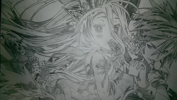 Dessin de Sora et Shiro no game no life (@lyagamii)
