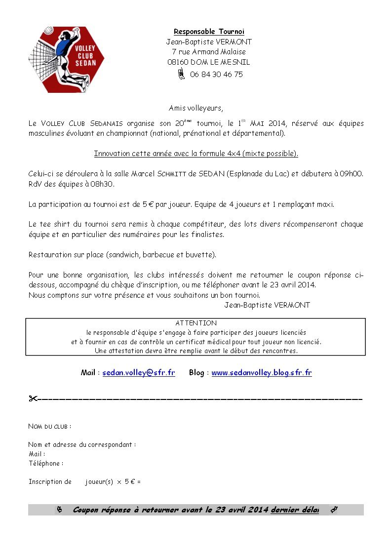 Les conditions d'inscription !