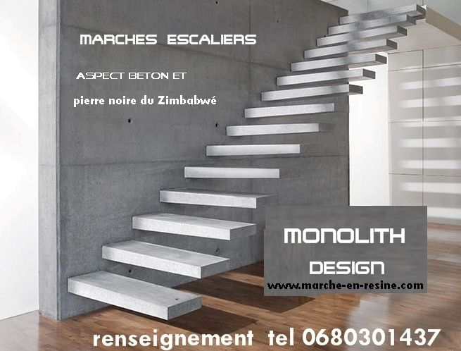 Polished concrete staircase, polished concrete steps