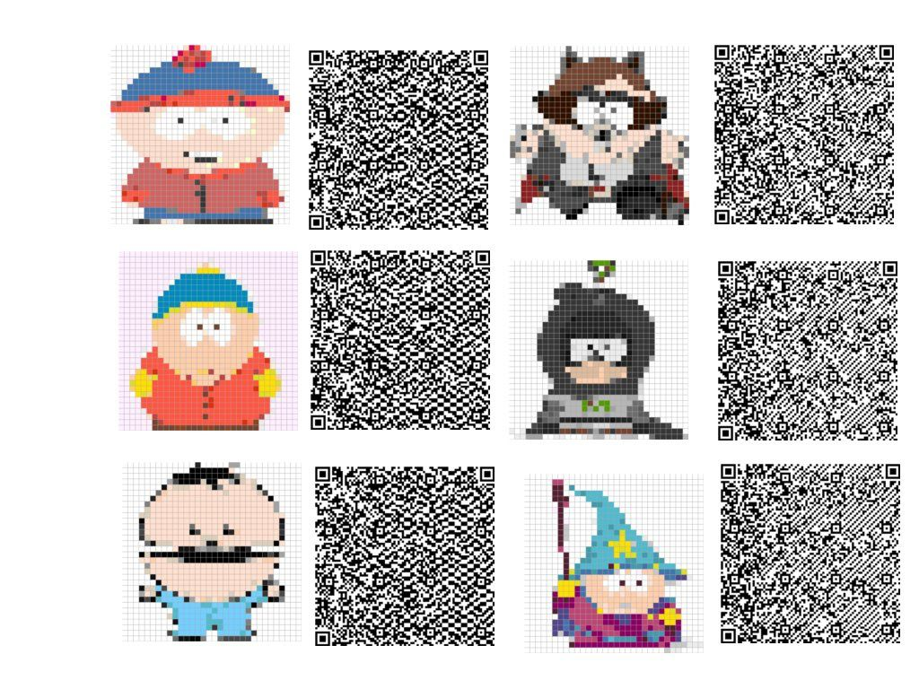 Les qr codes de South Park :