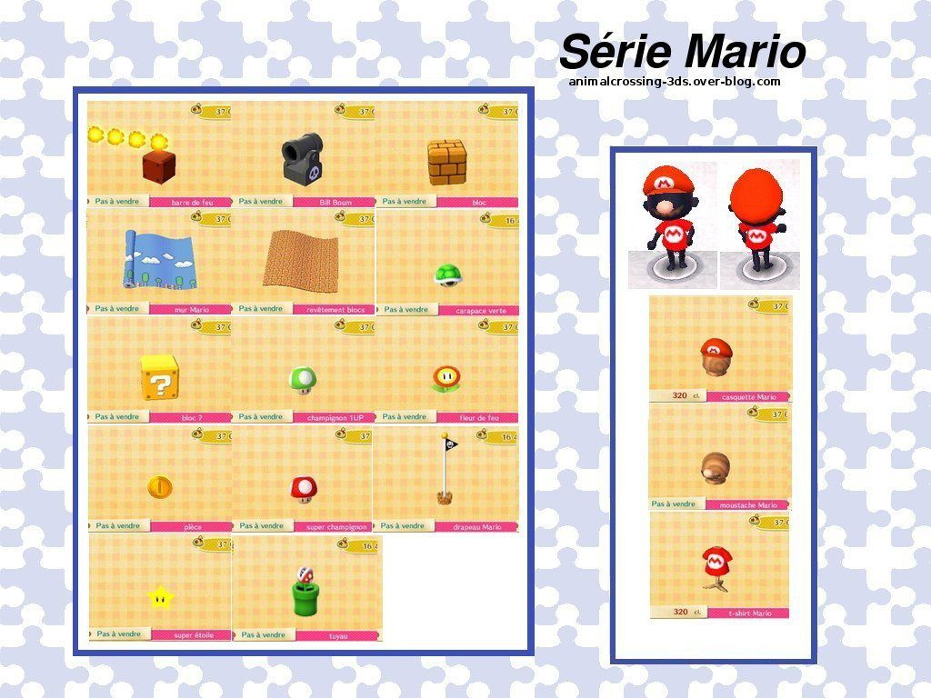 La S Rie Mario Animal Crossing New Leaf