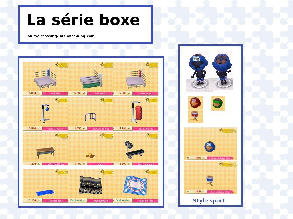 la s rie boxe animal crossing new leaf. Black Bedroom Furniture Sets. Home Design Ideas