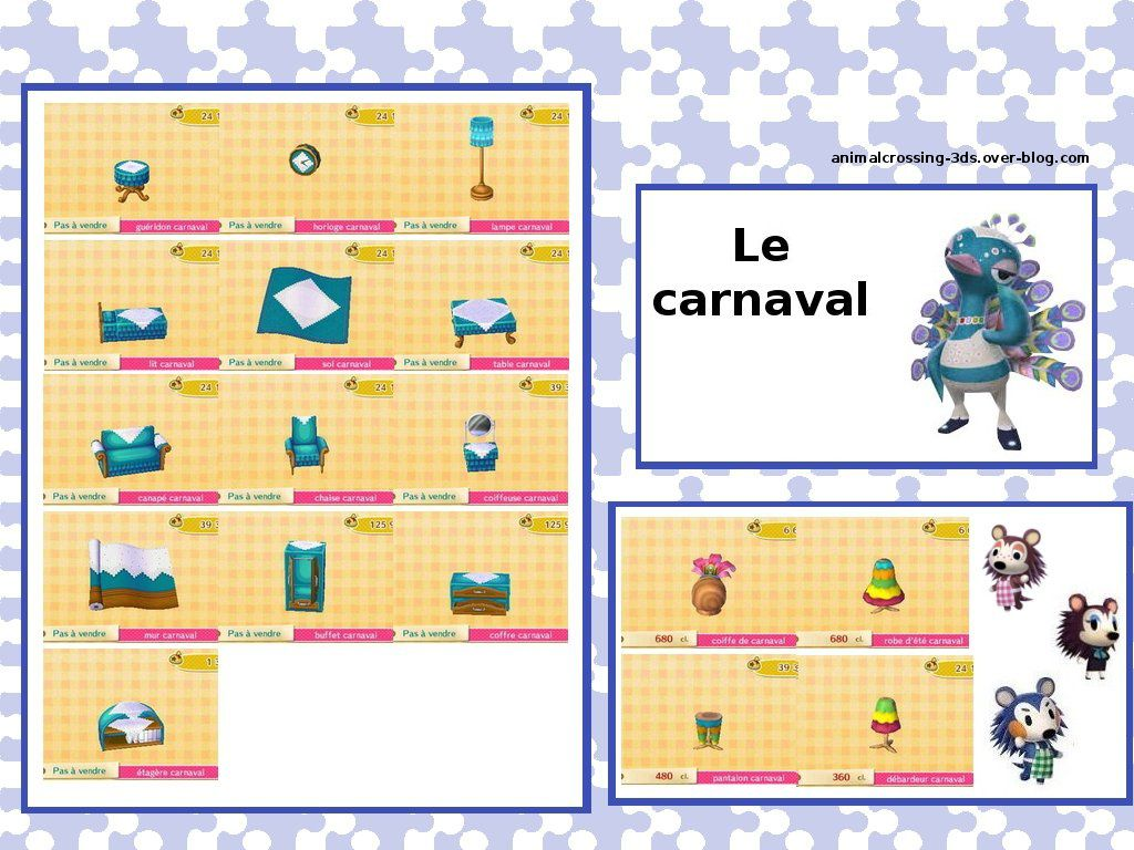 la s rie carnaval le 03 mars animal crossing new leaf. Black Bedroom Furniture Sets. Home Design Ideas