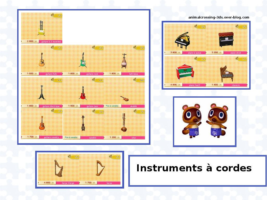 Animal crossing new leaf astuces for Instruments de cuisine liste