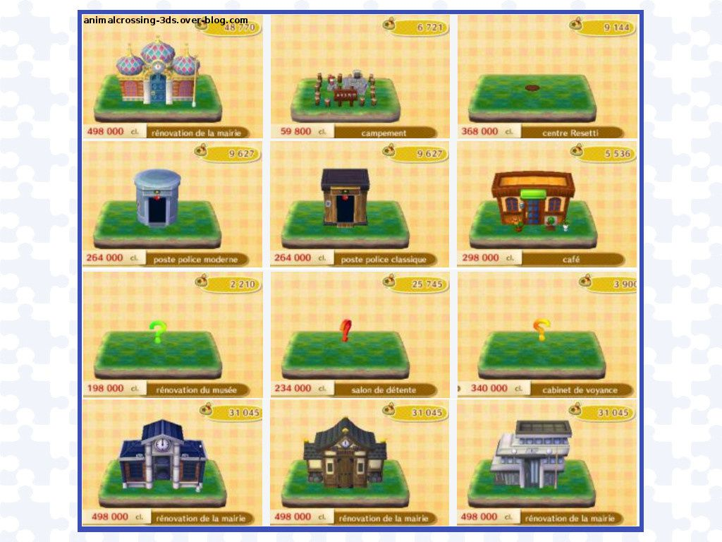Travaux Publics Animal Crossing New Leaf