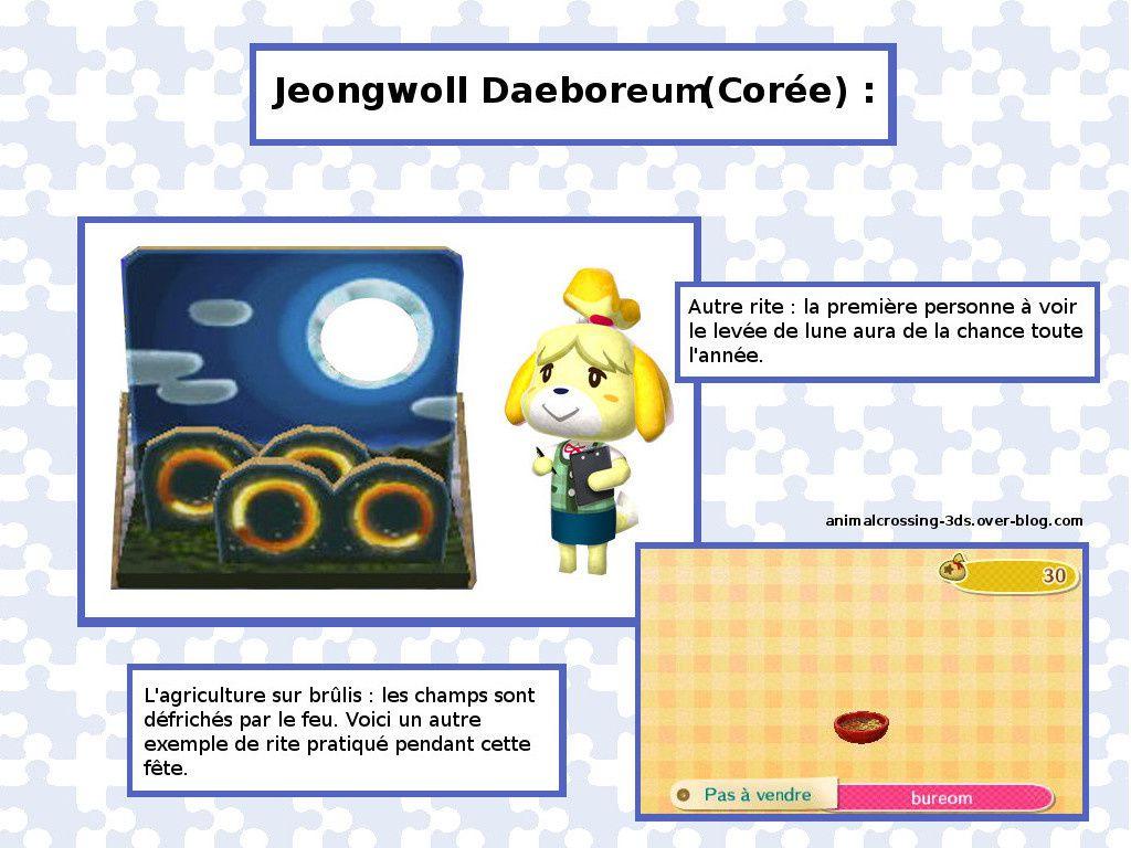 Jeongwoll Daeboreum ou fête de la pleine lune (Corée) :