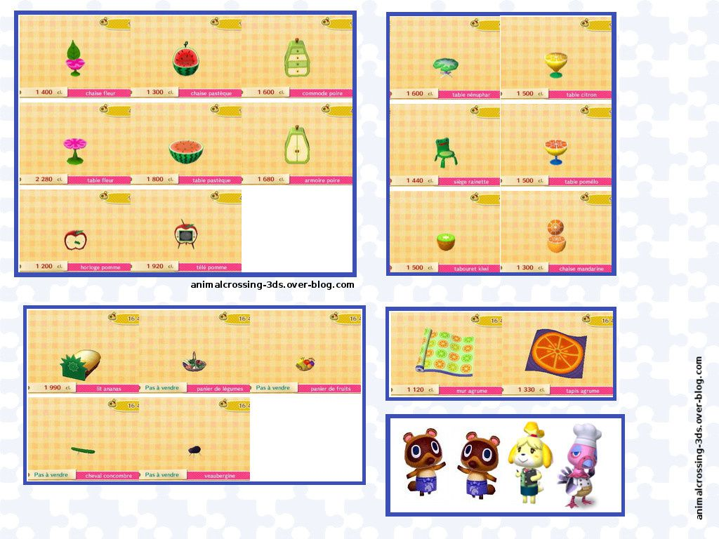 5 Fruits L Gumes Par Jour Animal Crossing New Leaf
