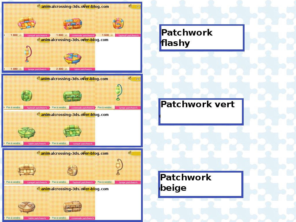 La S 233 Rie Patchwork Animal Crossing New Leaf