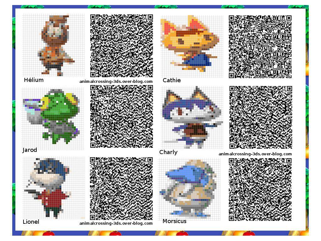 Les QR codes personnages principaux &amp&#x3B; spéciaux :