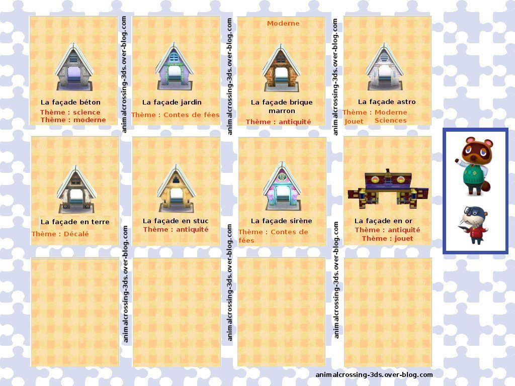 Les Facades 32 Animal Crossing New Leaf