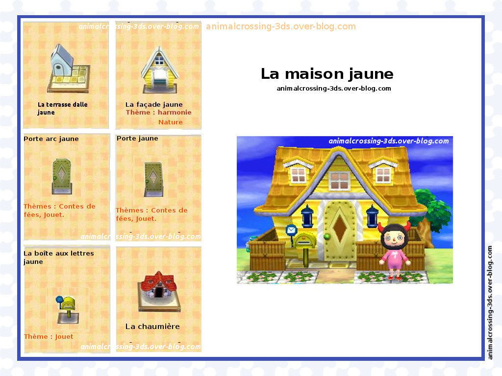 Les Maisons Exemples De Decorations Finales Animal Crossing