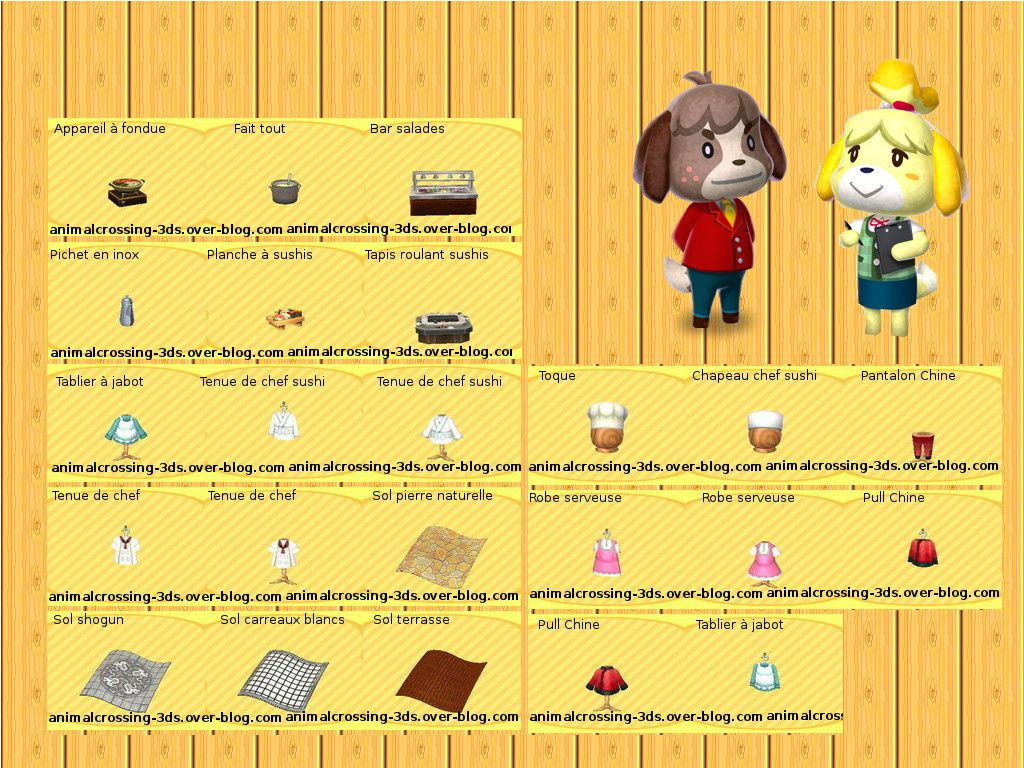 Le Restaurant Hhd Animal Crossing New Leaf