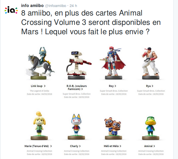 Source : twitter info amiibo
