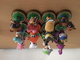 Ma collection de figurines amiibo.