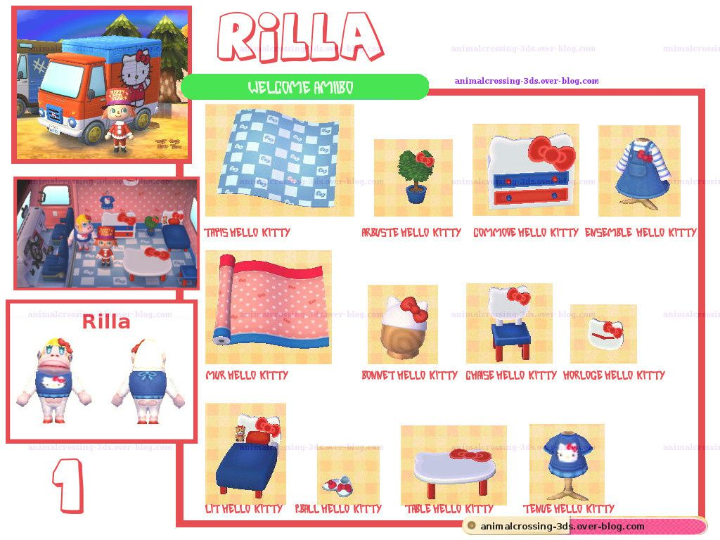 Les meubles Rilla (carte n°1 Sanrio).animalcrossing-3ds.over-blog.com