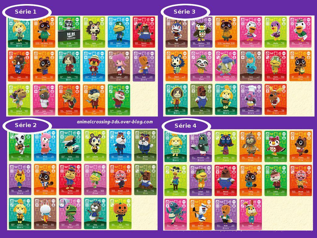 Les cartes amiibo spéciales de la série 1,2,3,4.