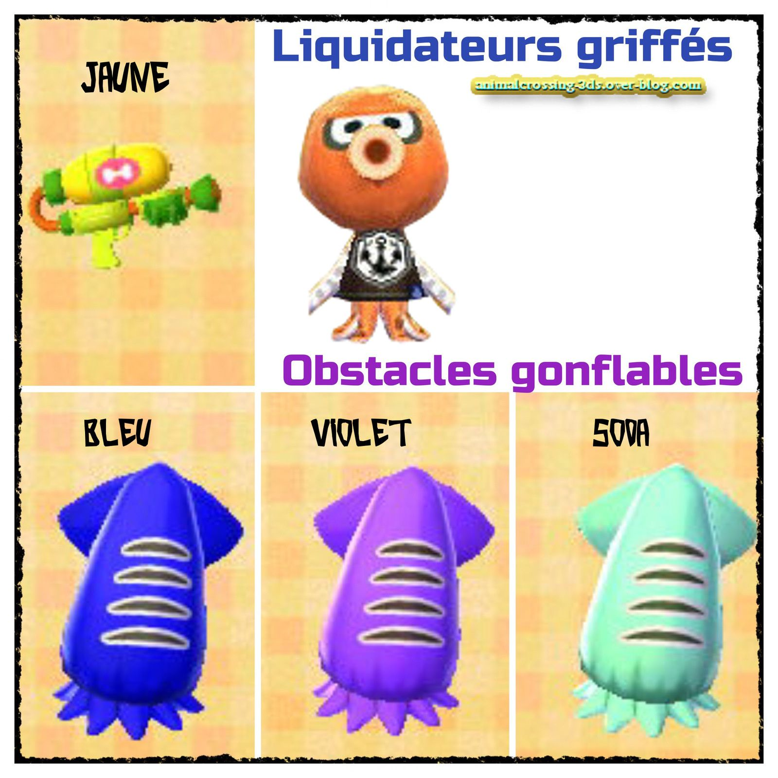 Les figurines amiibo Splatoon :
