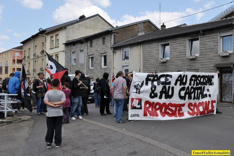 A Hayange, rassemblement face à la mairie FN