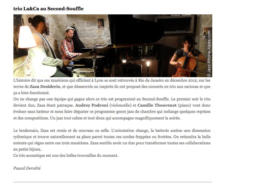 Jazz Rhône Alpes, 28 mai 2014