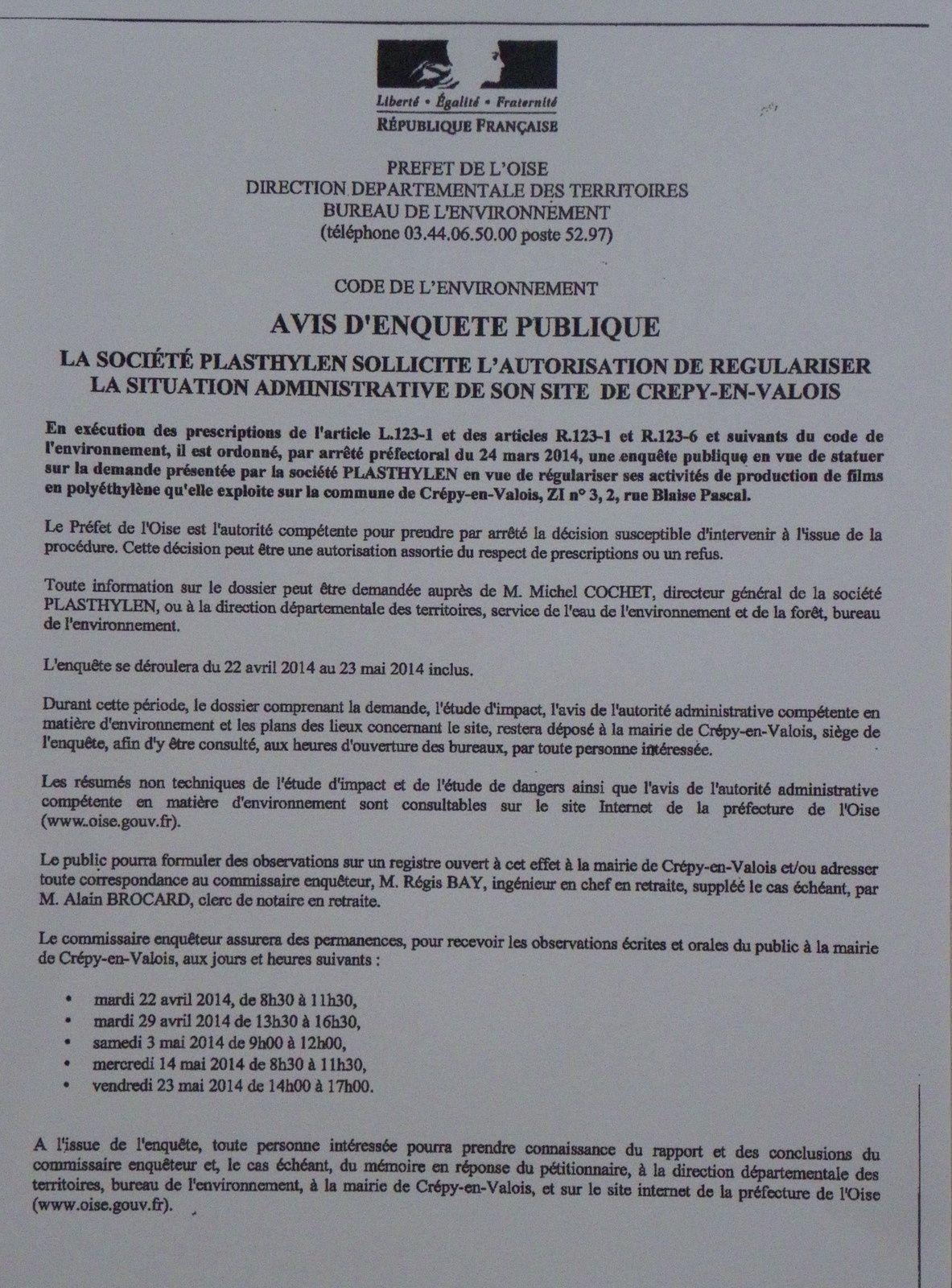 Crépy en Valois, zone industrielle, la société PLASTYLEN