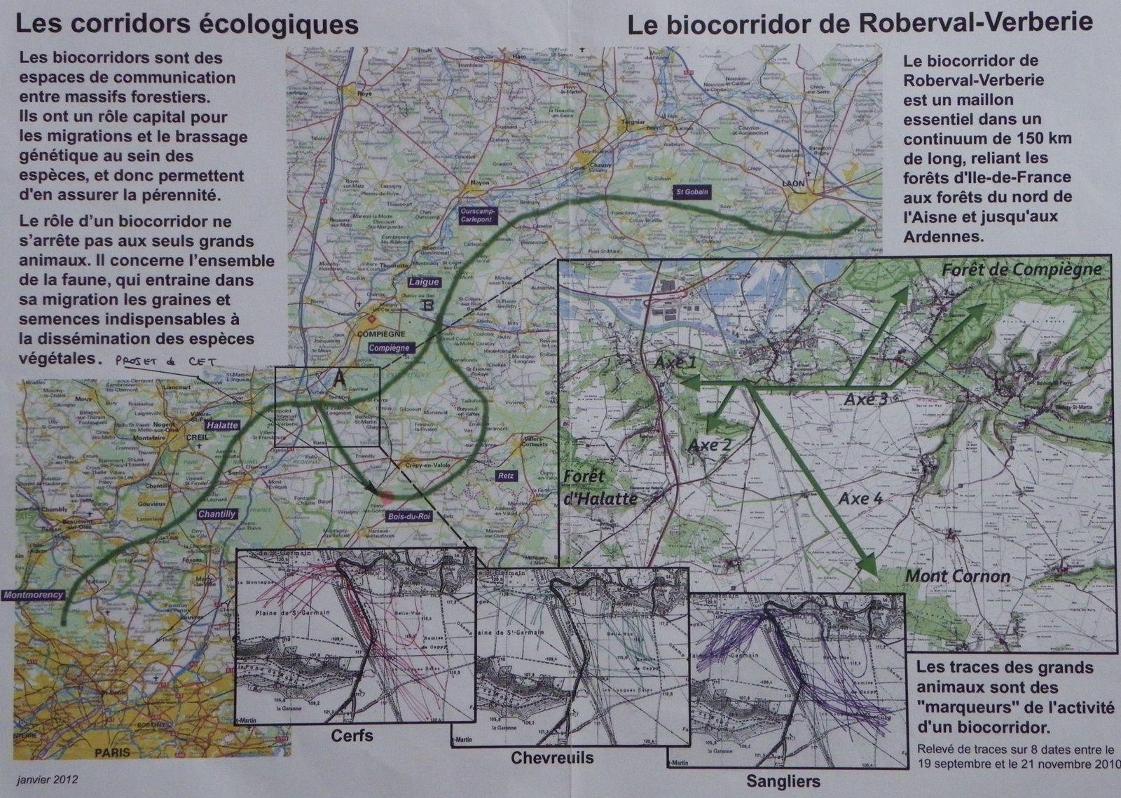Les biocorridors dans le département de l'Oise