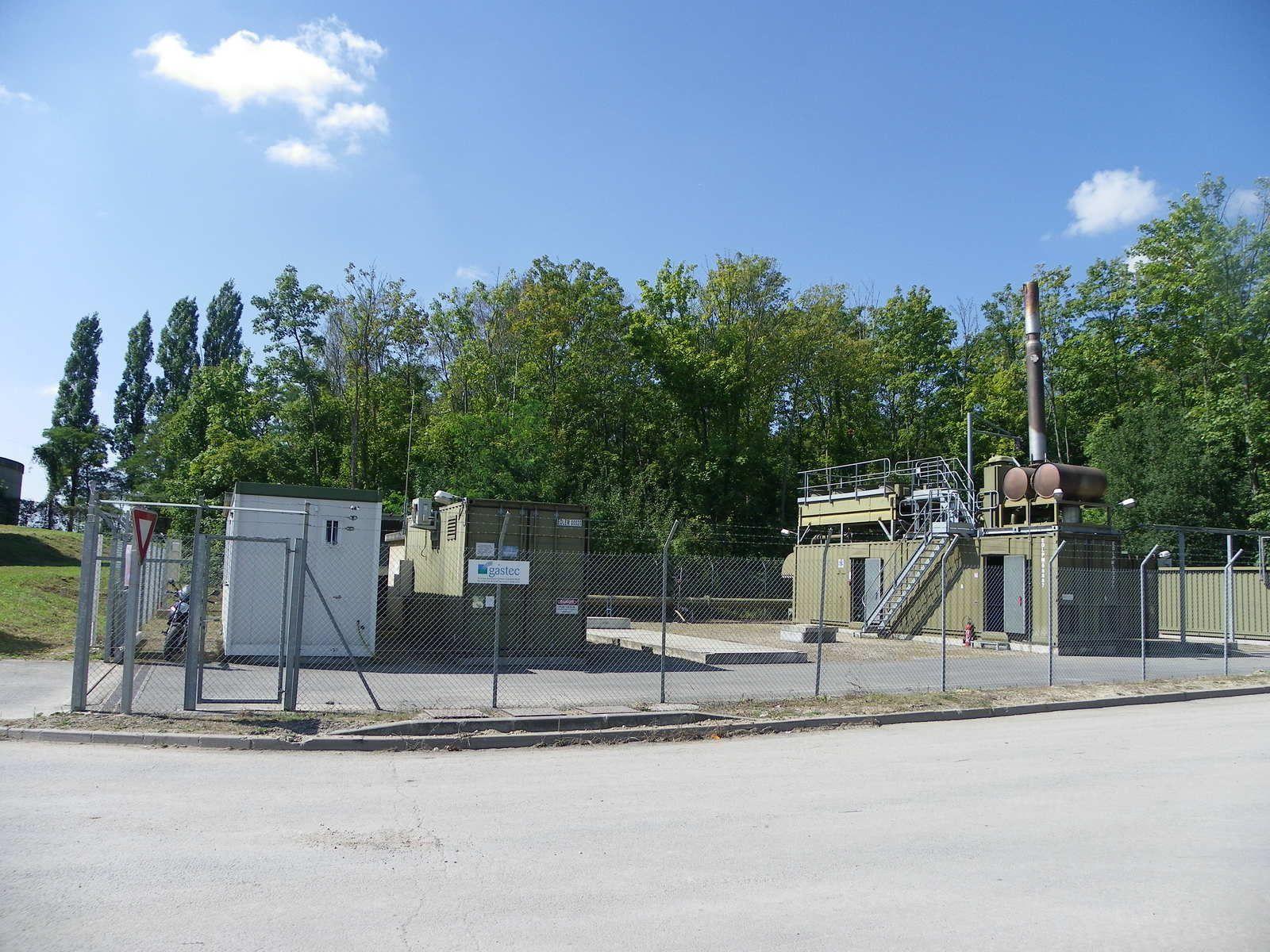Plateforme de valorisation du biogaz produisant de l'électricité