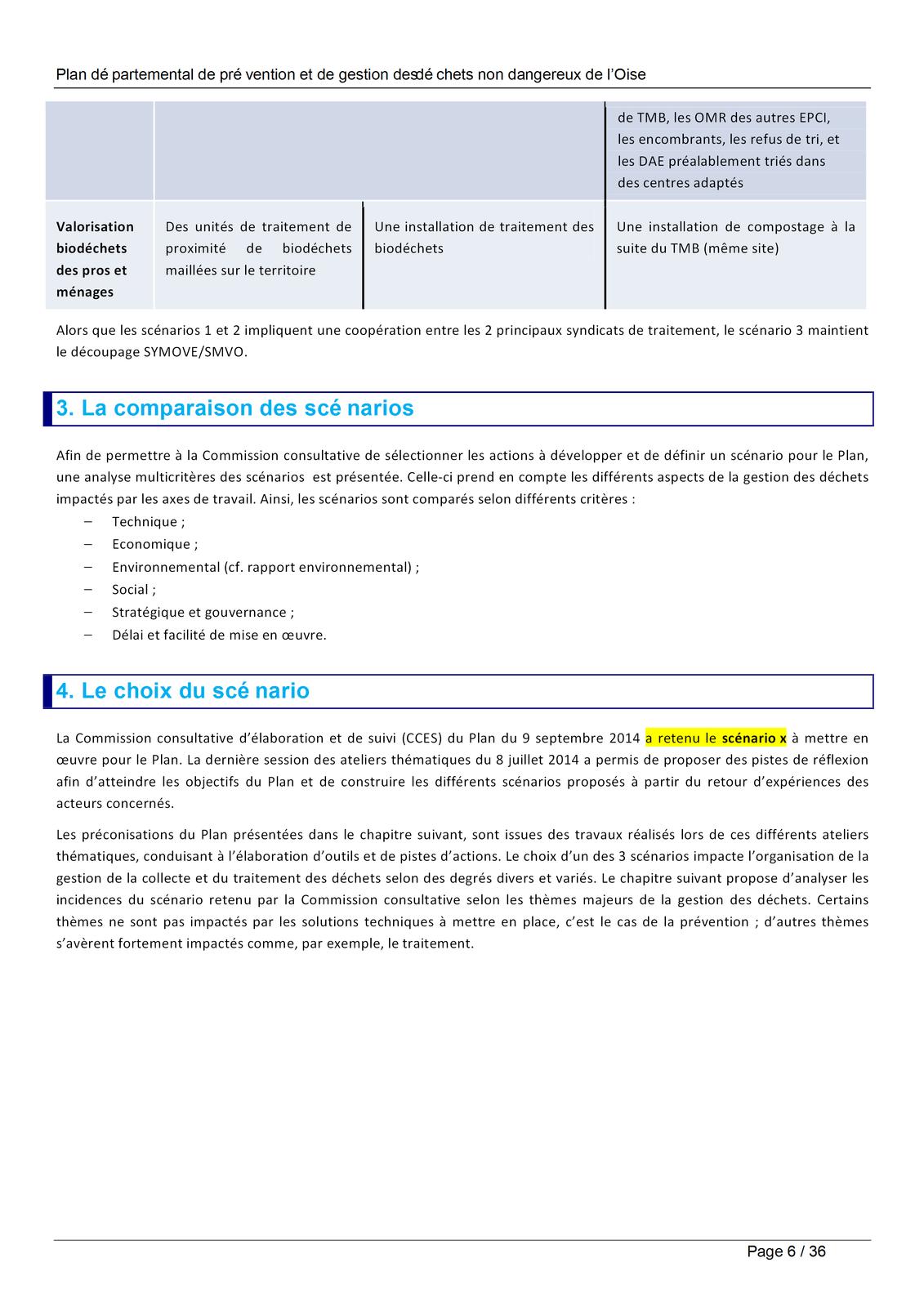 Le plan départemental de prévention et de gestion des déchets non dangereux - proposisions et scénarios