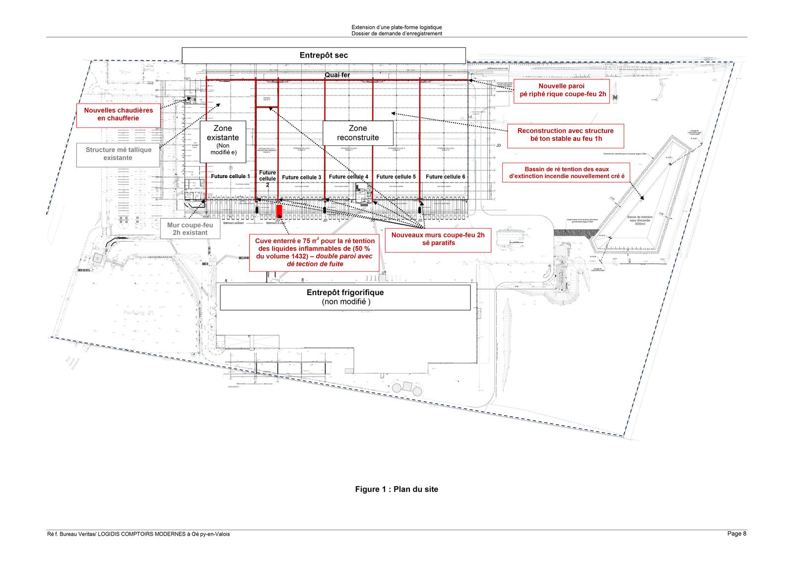 LCM à Crépy en Valois - Plan du site dans la zone industrielle