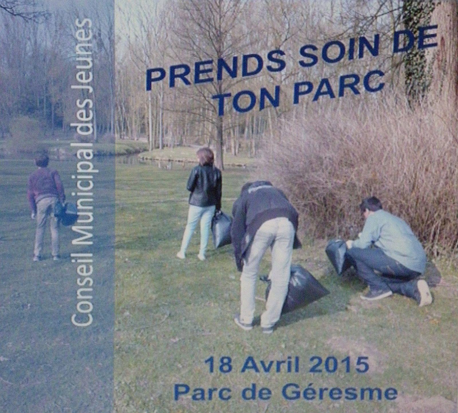 Crépy en Valois : Prends soin du parc de Géresme