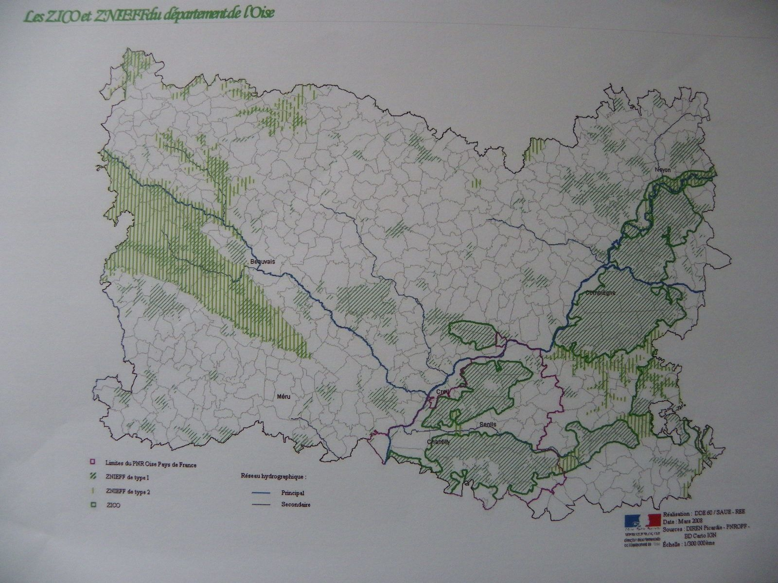 Certaines zones à protéger dans le département de l'Oise