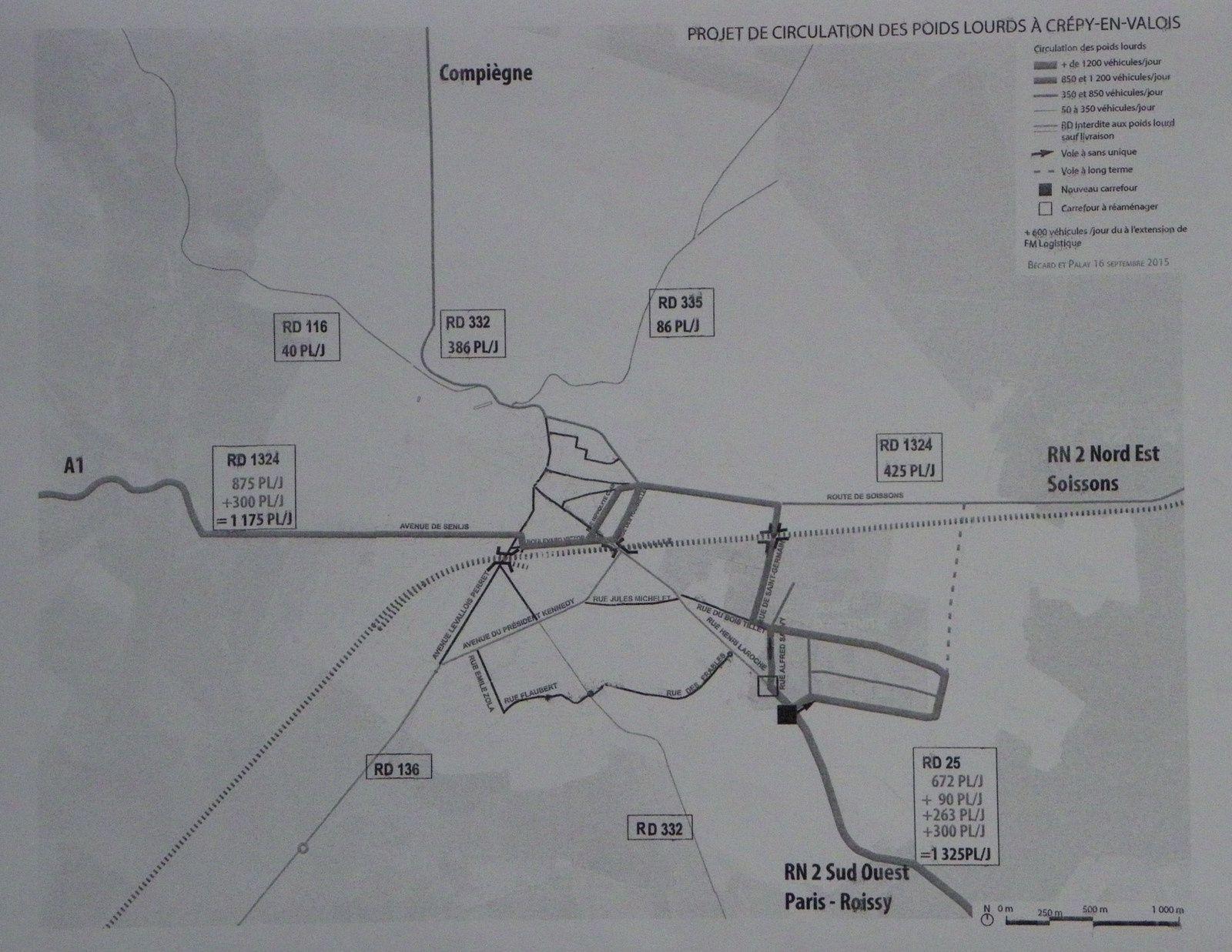 Le projet de la mairie de Crépy en Valois pour la circulation des poids lourds