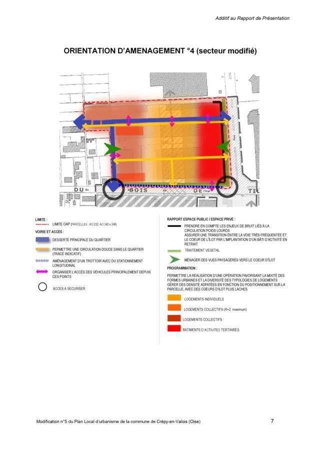 Crépy en Valois : Modification du plan local d'urbanisme