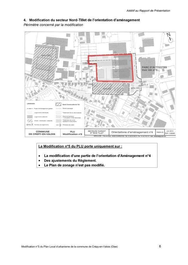 Crépy en Valois-Le modificatif n°5 du PLU