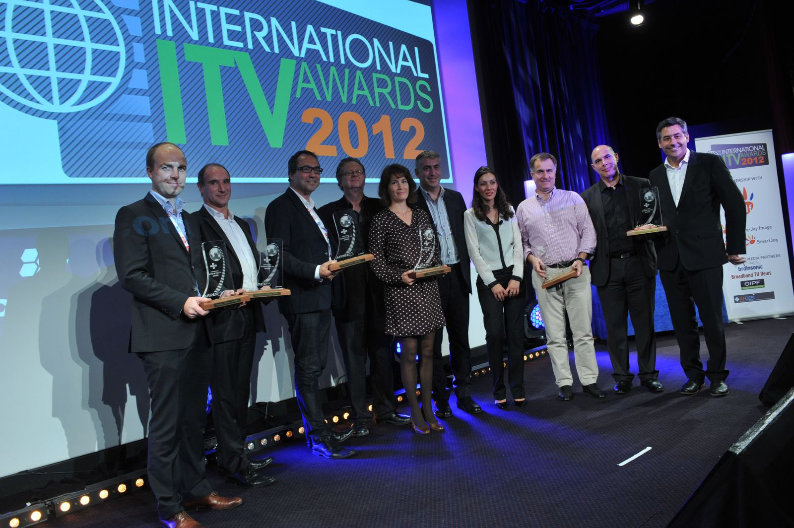 Les lauréats des International Interactive TV Awards au MipCom 2012, Cannes, France