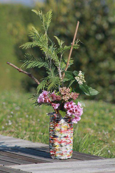 Un nouveau vase en éco-vannerie