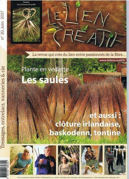 Le lien créatif n°20, une revue sur la vannerie.