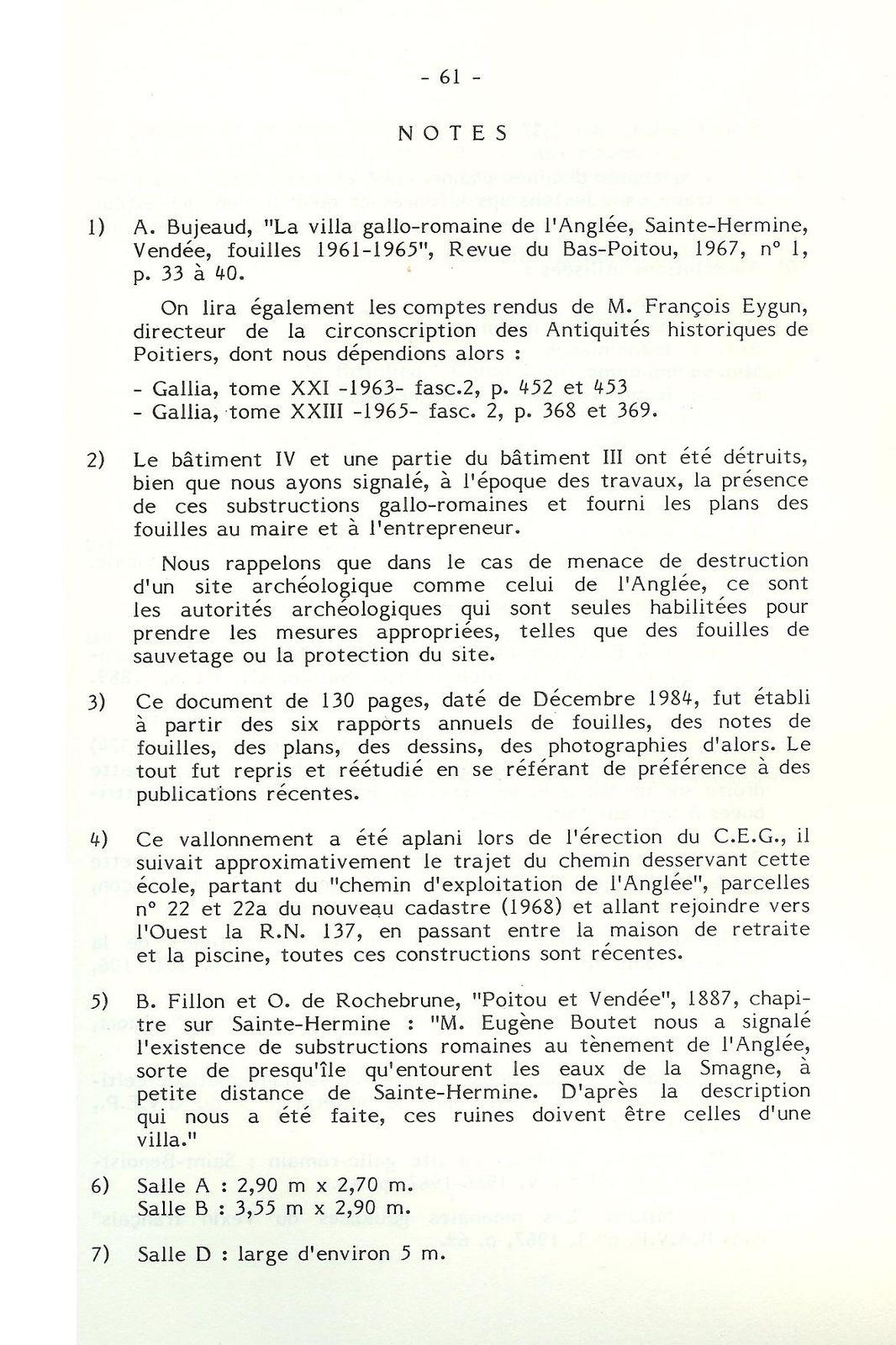 Les fouilles de l'Anglée dans les années '60