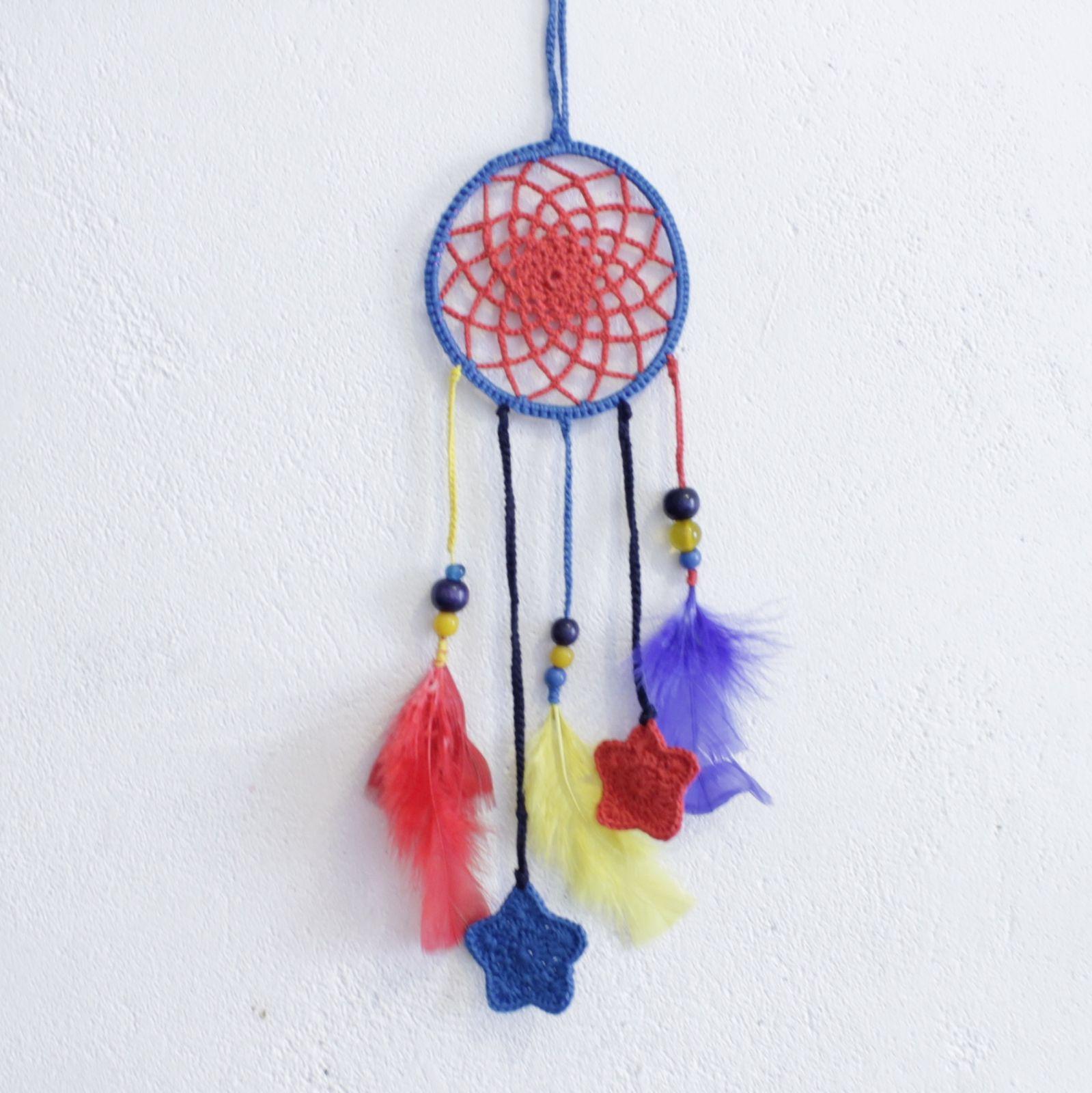 Sc n°187......Un porte bonheur indien...et attrape rêves en crochet Huk!