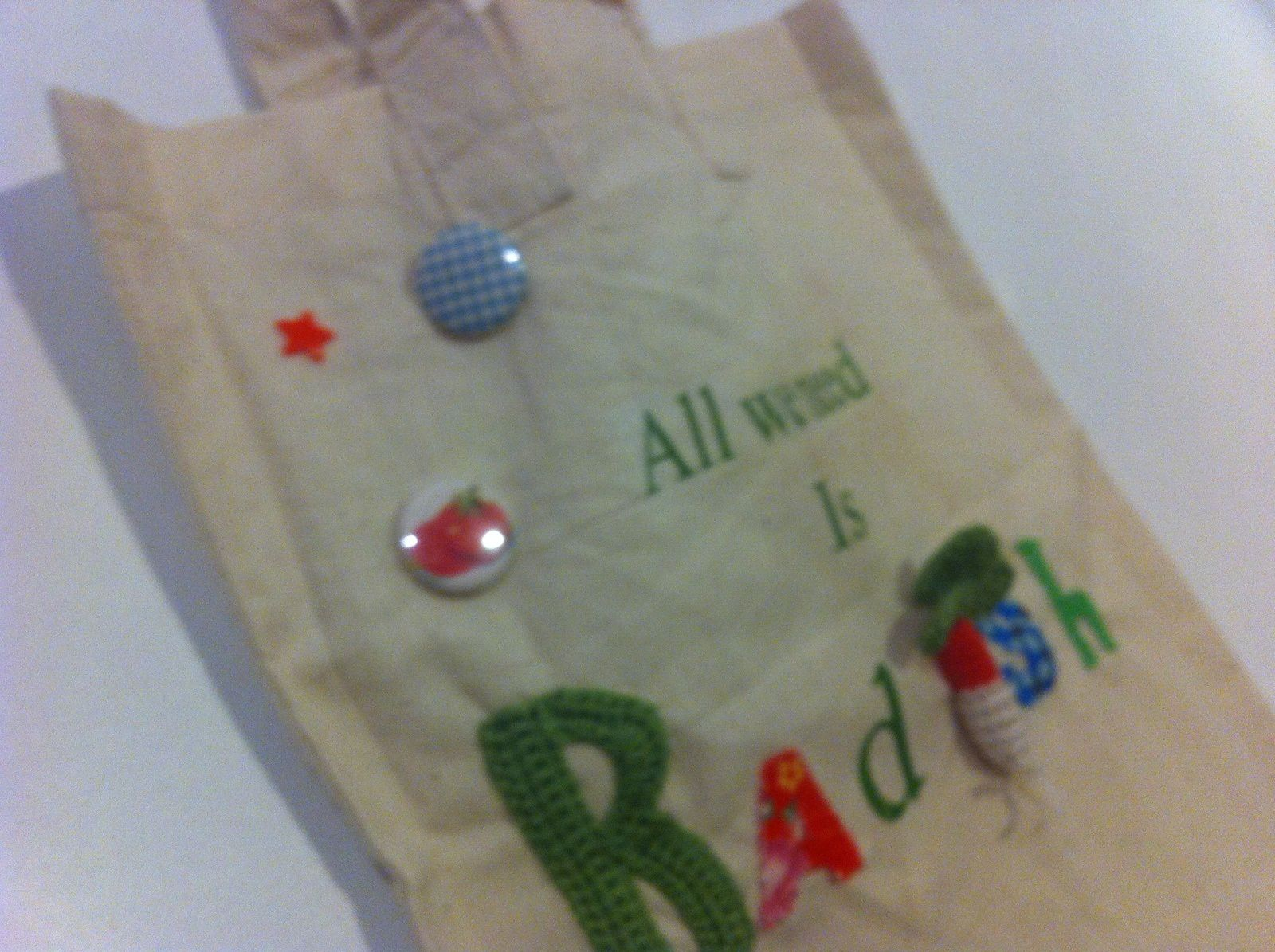 Sc N° 206....Un Tote bag so Radish...
