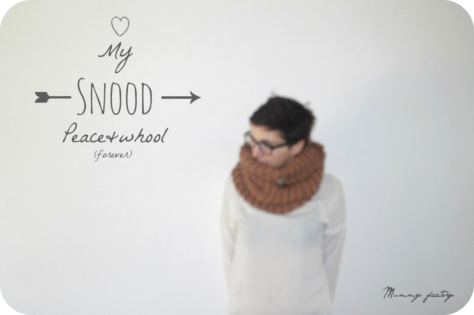 Love in Mon snood PEACE &amp&#x3B; Wool  (DiY)