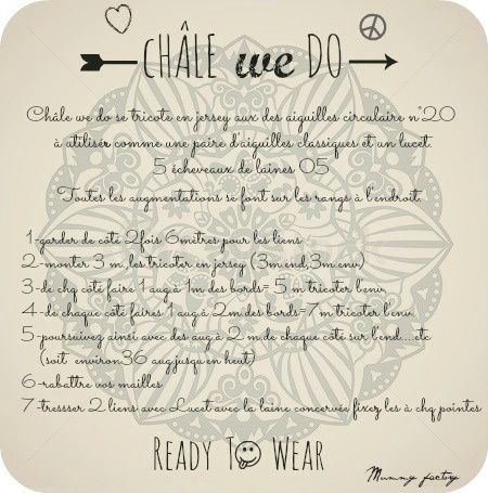 # Mon Châle WE do       & son      DiY