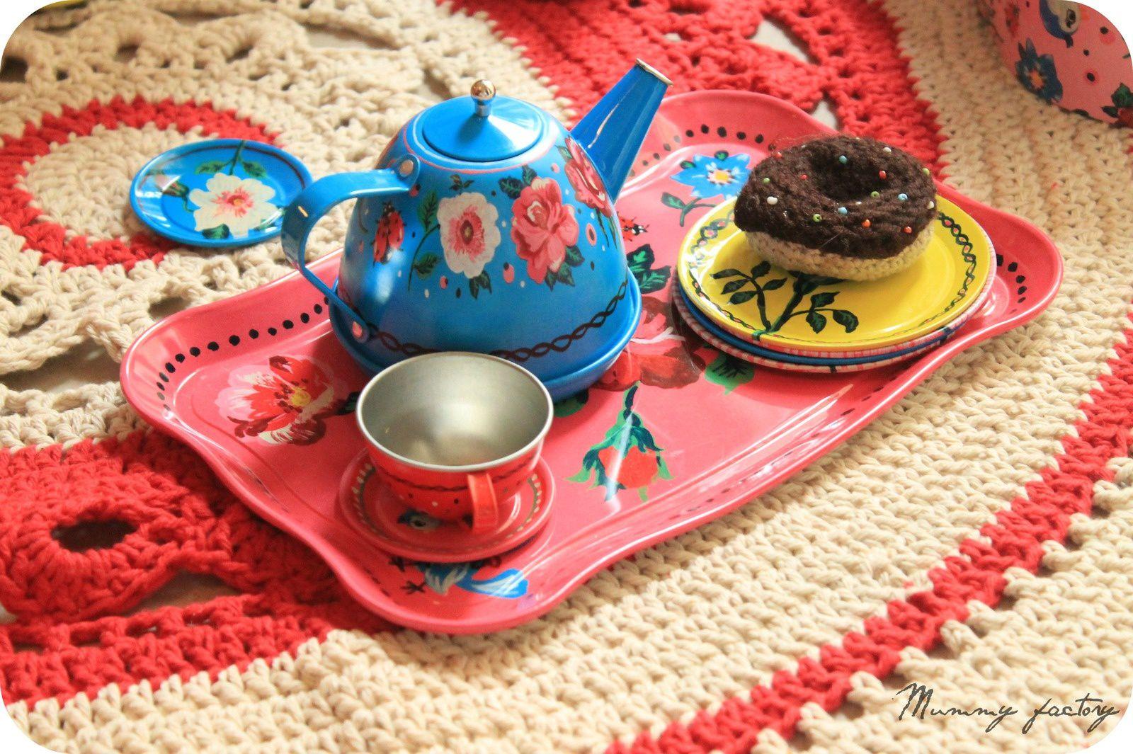 #Tasse de thé &amp&#x3B; carpette au crochet