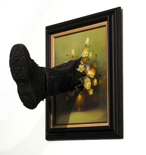 Mark Jenkins, Kicked Painting Series, 2011