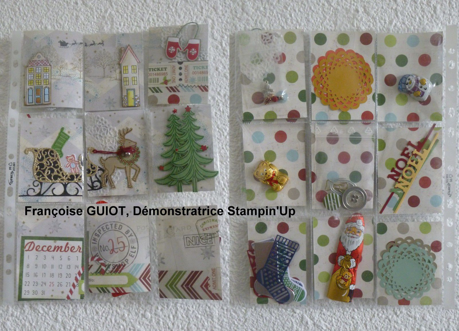 Swap de Noël de mon association de scrap
