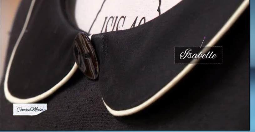 COUSU MAIN 2 - la laine et le lin : Customiser une robe noire
