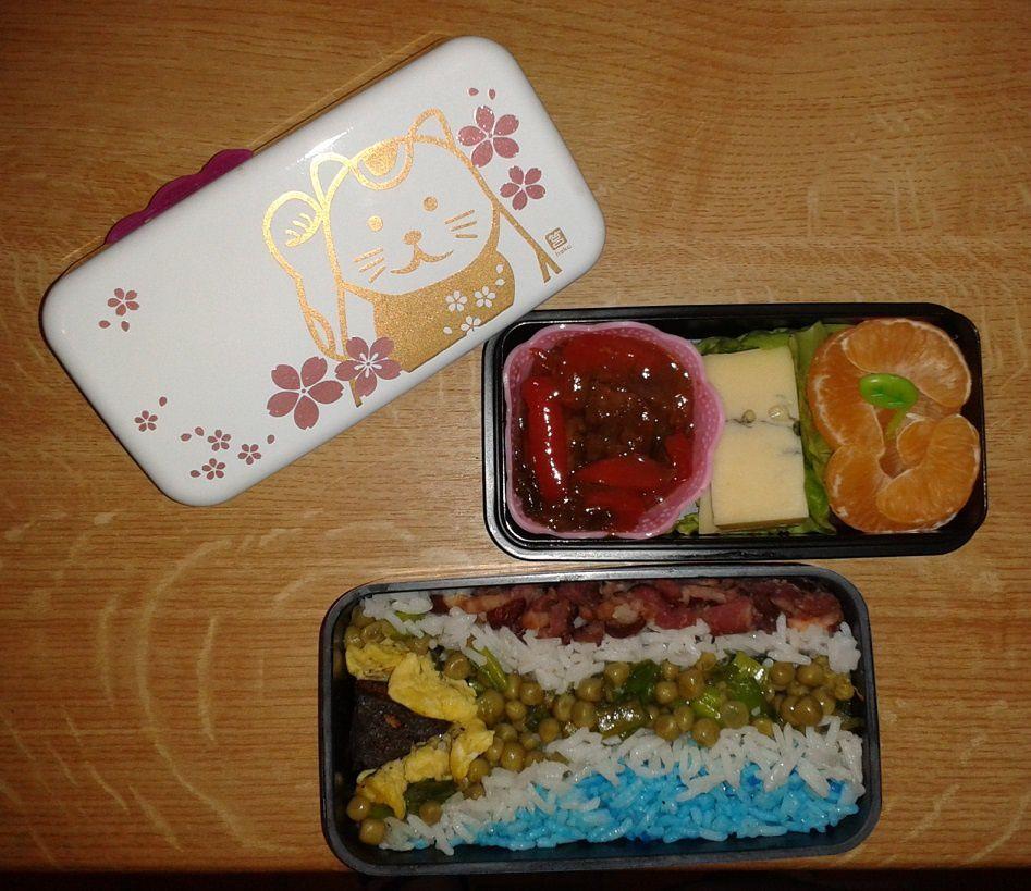 Bento #52 : porc au caramel et riz cantonnais