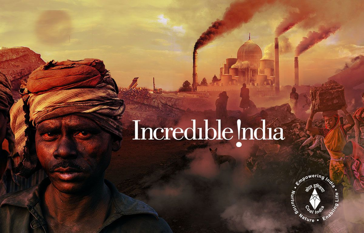 "parodie du slogan publicitaire ""incredible India"""