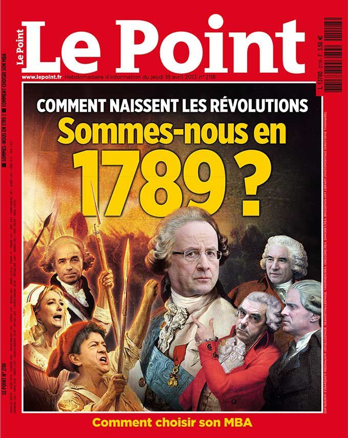Une de l'hebdomadaire Le Point du 18 avril 2013