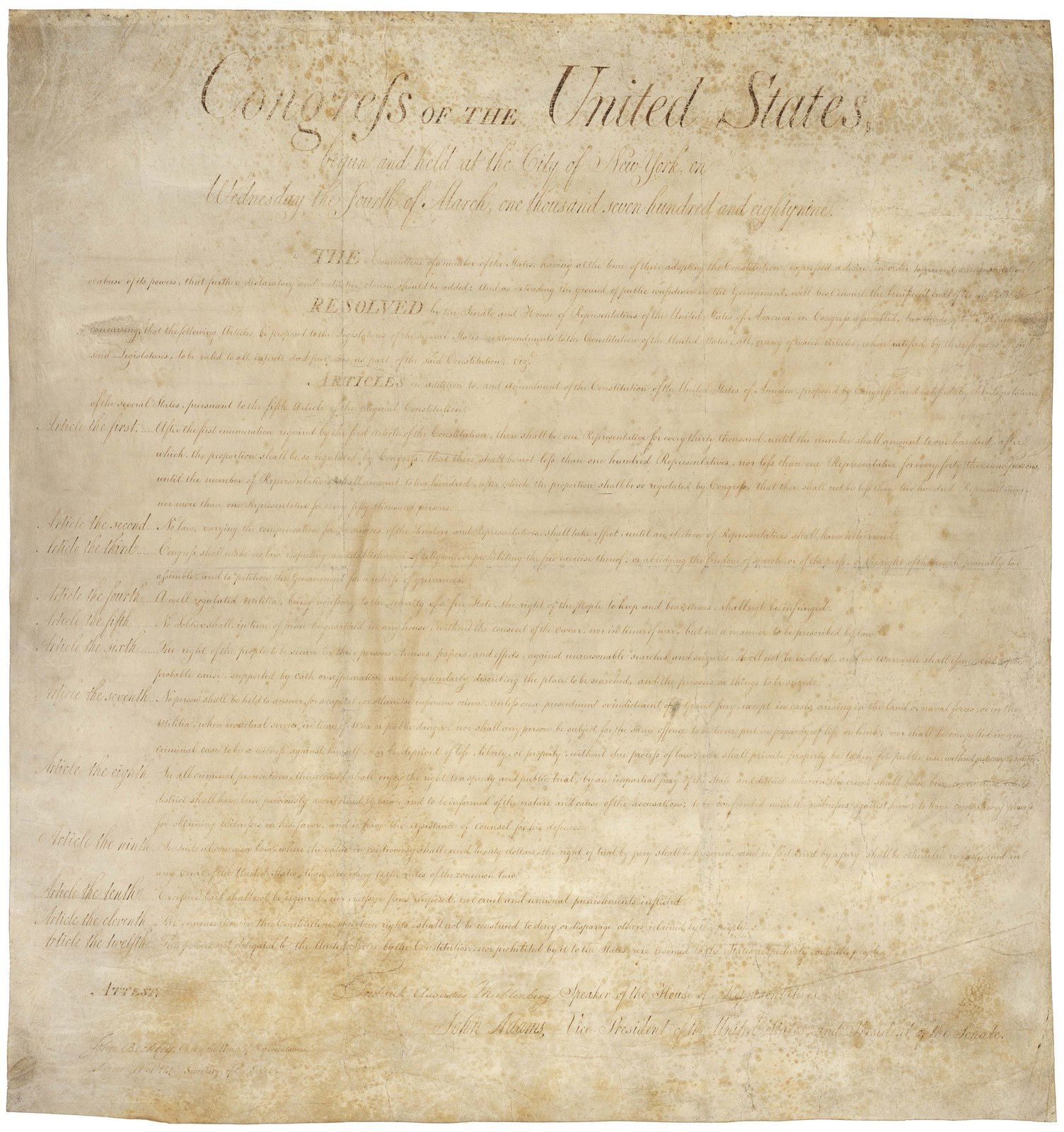 The American Bill of Rights