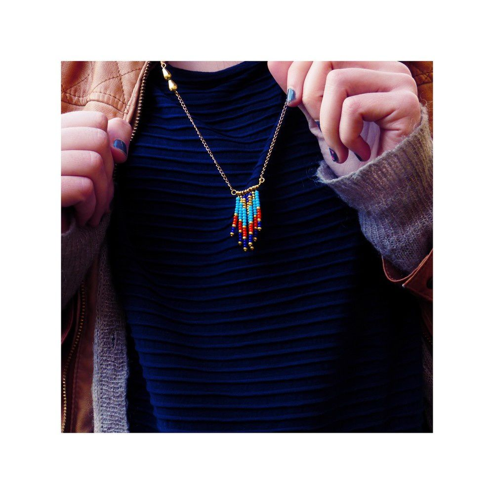 A la mode Navajo, le collier.